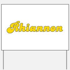 Retro Rhiannon (Gold) Yard Sign