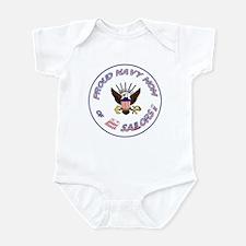 Proud Navy Mom Infant Bodysuit