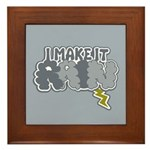I Make It Rain Framed Tile