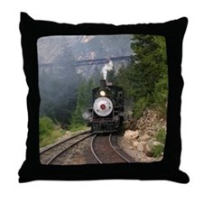 Georgetown Colorado Railroad Throw Pillow
