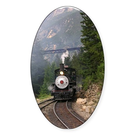Georgetown Colorado Railroad Oval Sticker