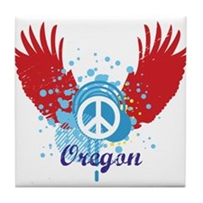 Oregon Peace Tile Coaster
