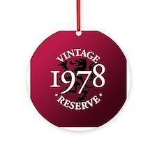 Vintage Reserve 1978 Ornament (Round)