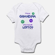 """I Have Grandma, Who Needs Lotto?"" Infant Creeper"