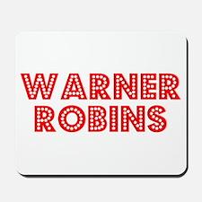 Retro Warner Robins (Red) Mousepad