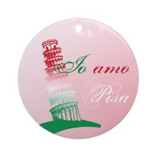 Leaning Tower of Pisa Ornament (Round)