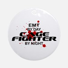 EMT Cage Fighter by Night Ornament (Round)