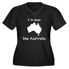 I'm Down Like Australia Women's Plus Size V-Neck D