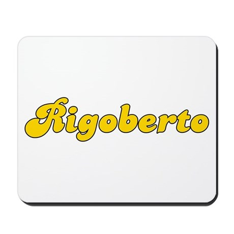 Retro Rigoberto (Gold) Mousepad