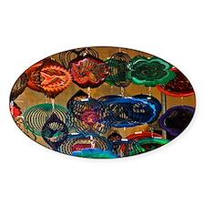 Color Wheels Oval Sticker (50 pk)