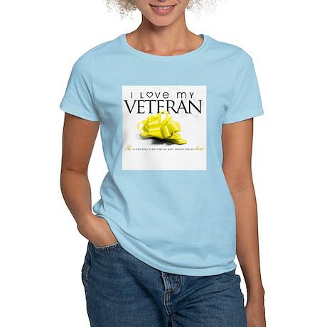 I Love My Veteran Women's Light T-Shirt