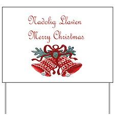 Welsh Christmas Yard Sign