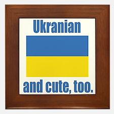 Cute Ukranian Framed Tile