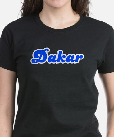 Retro Dakar (Blue) Women's Dark T-Shirt