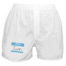 """Hello my name is Juan"" Boxer Shorts"