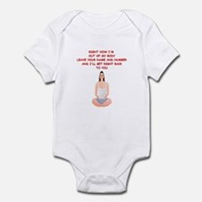 meditation joke Infant Bodysuit
