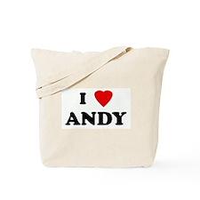 I Love ANDY Tote Bag