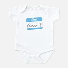 """Hello my name is Geoff"" Infant Bodysuit"