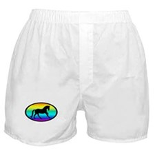 Canter Horse Rainbow Oval Boxer Shorts