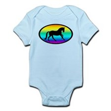 Canter Horse Rainbow Oval Infant Bodysuit
