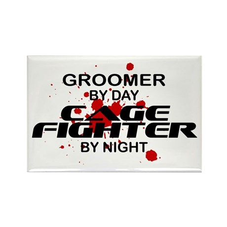 Groomer Cage Fighter by Night Rectangle Magnet