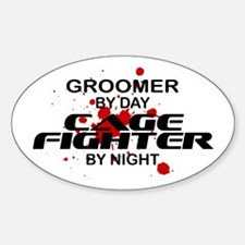 Groomer Cage Fighter by Night Oval Decal