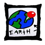 Where On Earth? Throw Pillow