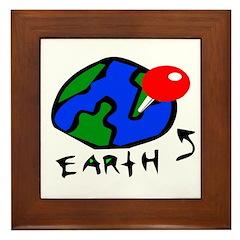 Where On Earth? Framed Tile