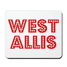 Retro West Allis (Red) Mousepad