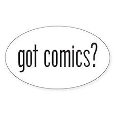 Got Comics? Oval Decal