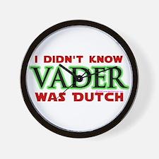 Vader was Dutch- Saber Green Wall Clock
