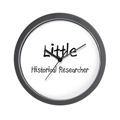 Little Historical Researcher Wall Clock