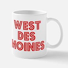 Retro West Des Moi.. (Red) Mug