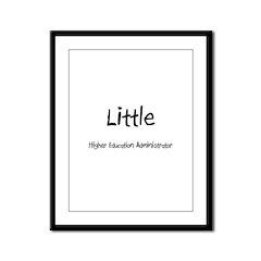 Little Higher Education Administrator Framed Panel