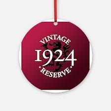 Vintage Reserve 1924 Ornament (Round)