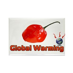 Habanero Peppers - Global Warming Rectangle Magnet