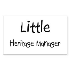 Little Heritage Manager Rectangle Decal