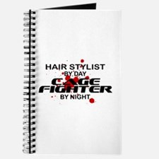 Hair Stylist Cage Fighter by Night Journal