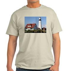 Portland Head Light Ash Grey T-Shirt