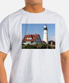 Portland Head Light Ash Grey T-Shirt