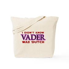 Vader was Dutch - Saber Purple Tote Bag