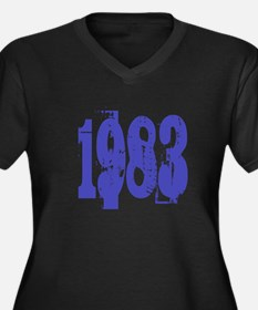 1983 Women's Plus Size V-Neck Dark T-Shirt