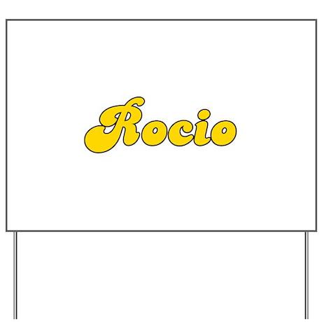 Retro Rocio (Gold) Yard Sign