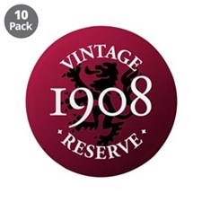 "Vintage Reserve 1908 3.5"" Button (10 pack)"