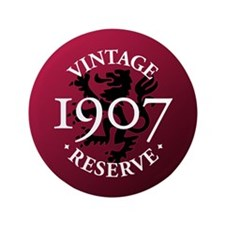 "Vintage Reserve 1907 3.5"" Button (100 pack)"