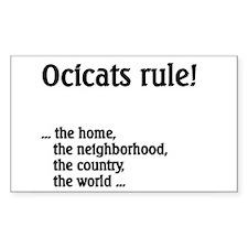 Ocicat Rectangle Sticker 10 pk)