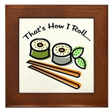 That's How I Roll Sushi Framed Tile