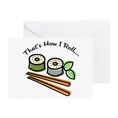 That's How I Roll Sushi Greeting Cards (Pk of 10)