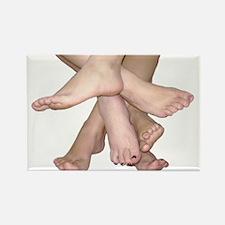 Family of Feet Rectangle Magnet