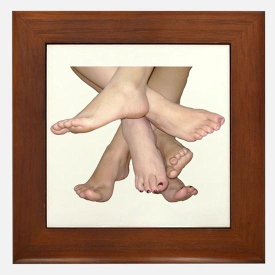 Family of Feet Framed Tile